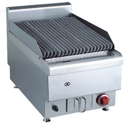 7.2KW Commercial Gas Lava Rock Grill Counter Top Western Kitchen Equipment