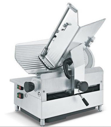 Food Processing Equipments Counter Top Automatic Meat Slicer Stainless Steel Blade 330mm