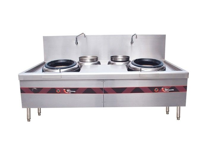 Double Burner Chinese Cooking Stove / Commercial Gas Cooking Stoves