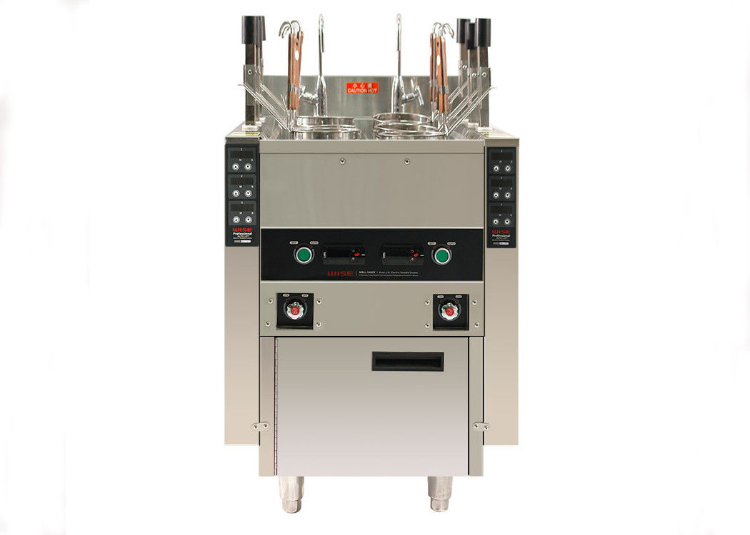 12KW Commercial Kitchen Equipments , Auto Lift Up 6 Baskets Pasta Cooker