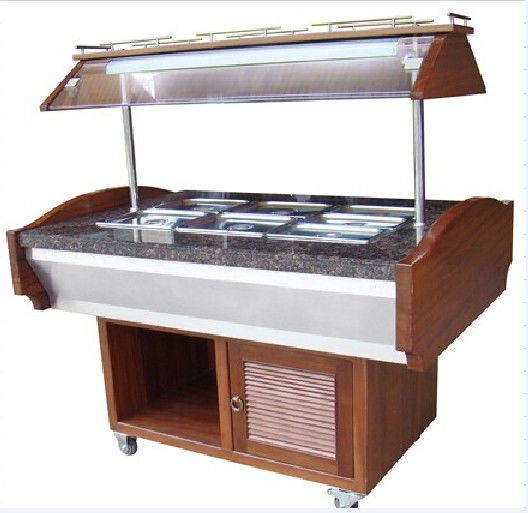 Salad Buffet Commercial Buffet Equipment With Marble Stone Base NN-SB 1400